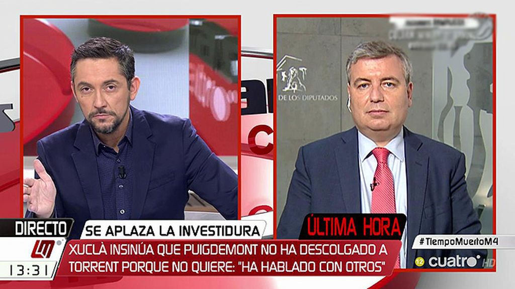 """Xuclà (PDeCAT), sobre el aplazamiento del pleno: """"Es legal, pero institucionalmente habría sido bueno compartirlo"""""""