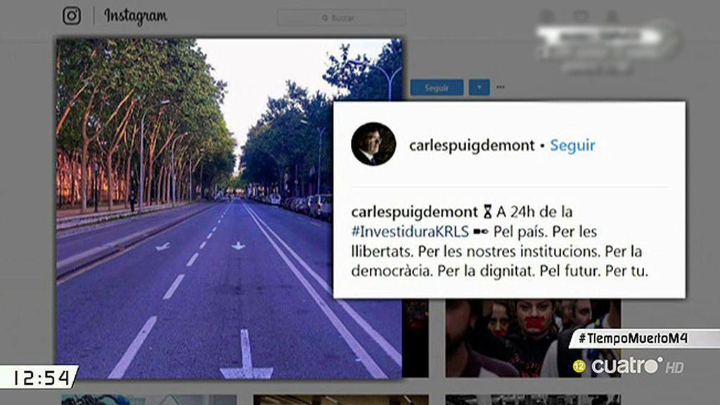 Puigdemont juega al despiste en redes sociales