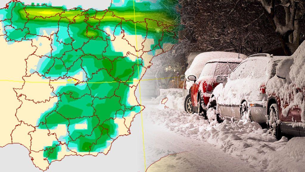 ¡La Península se tiñe de blanco! Nieve a 600 metros en el norte y a 1000 metros en el sur