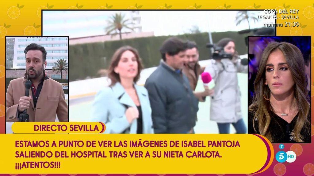 Francisco Rivera acude a conocer a su sobrina... y coincide con Isabel Pantoja