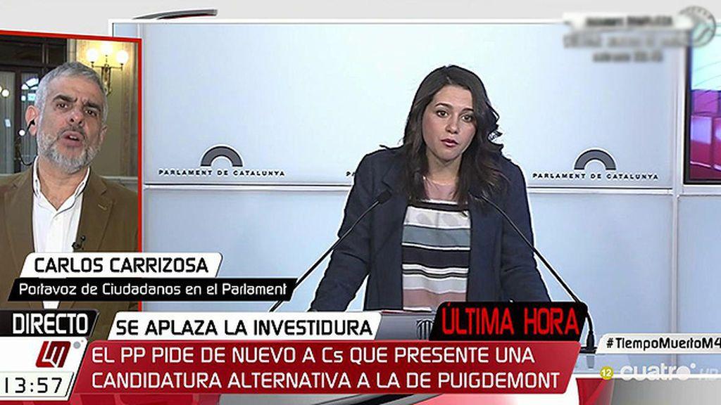 """Carrizosa (C's) apunta que no propondrán a Arrimadas: """"Lo descartamos en tanto en cuanto no tenemos los votos suficientes"""""""