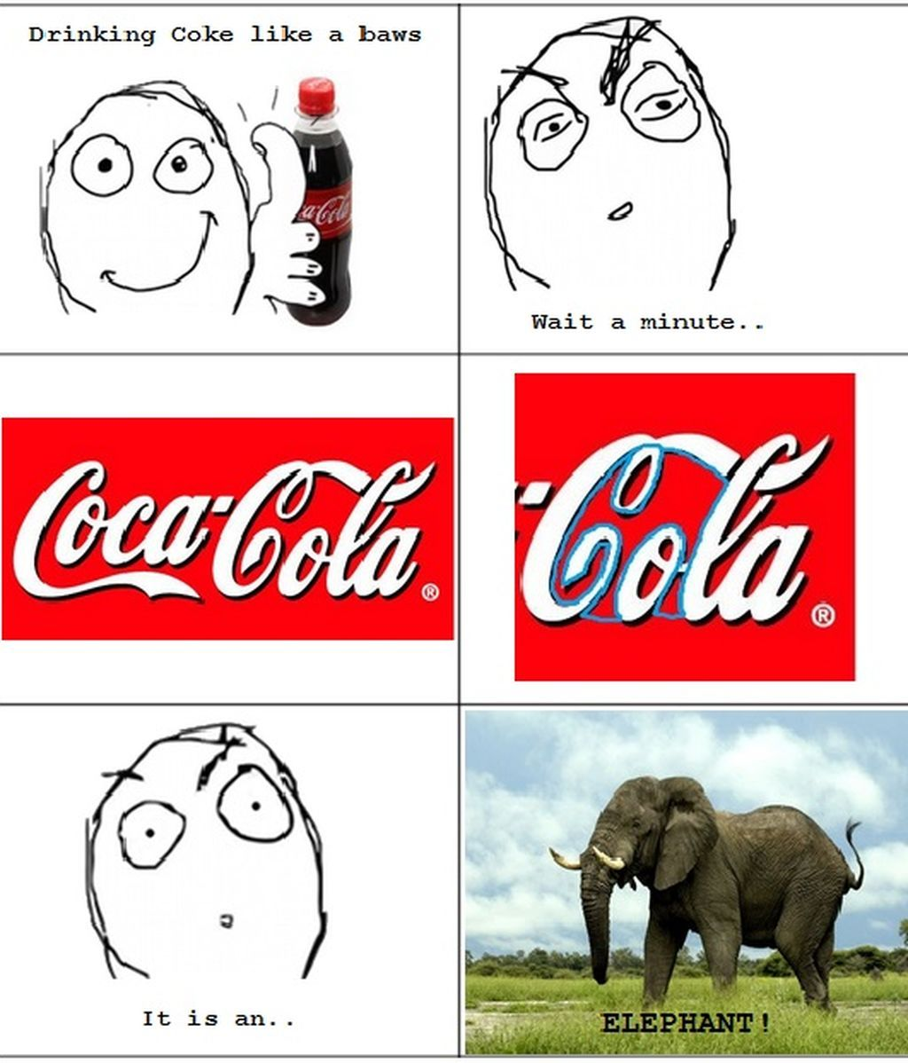 The Hidden Message In Coca-Cola Logo Is An Elephant