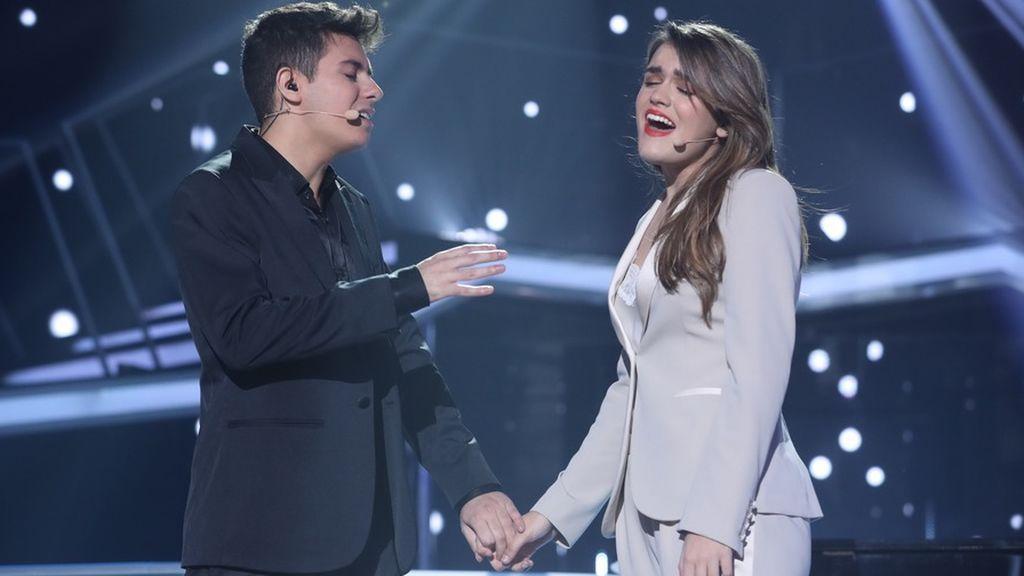 Alfred y Amaia, en la gala de Eurovisión de 'Operación triunfo'.