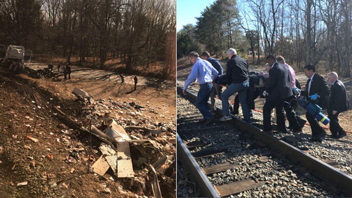 Un muerto tras el choque de un tren con congresistas republicanos contra un camión en Virginia, EEUU