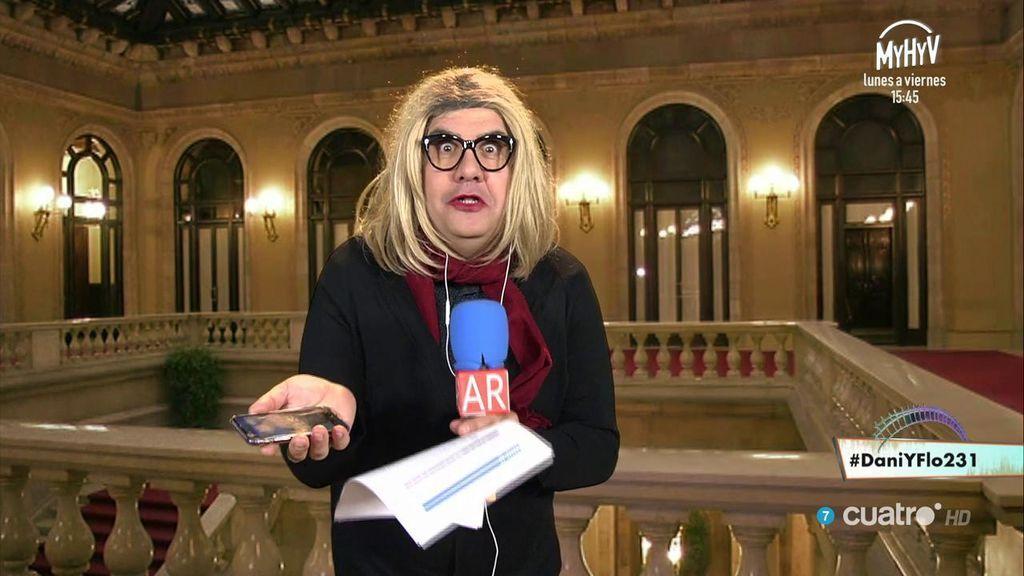 Mayka Flo Navarro también tiene mensajes de Puigdemont... ¡no te creerás lo que le cuenta!