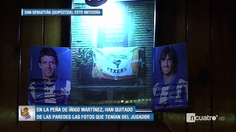 Resultado de imagen de La peña donostiarra Iñigo Martínez retira todas sus fotos tras su fichaje por el Athletic