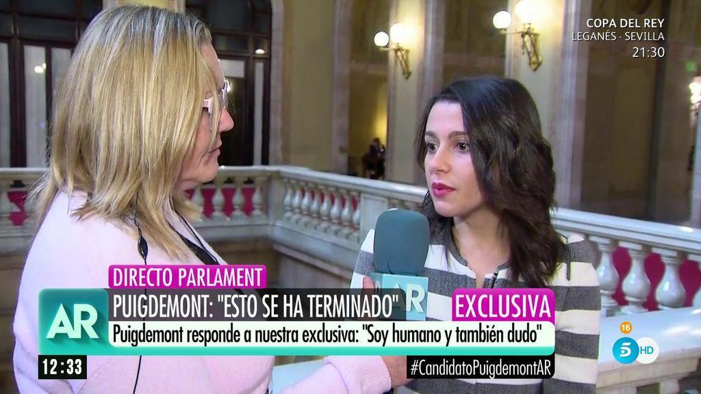 """Arrimadas, sobre los mensajes: """"Están alimentando un sueño que es la pesadilla de muchos catalanes"""""""