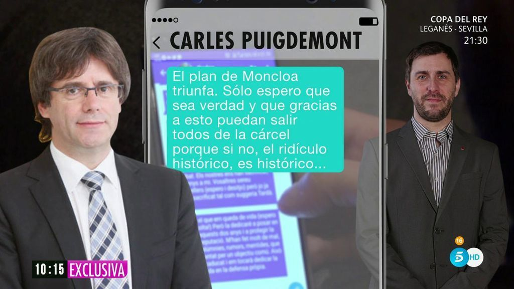 """Puigdemont, a Comín sobre el procés: """"Supongo que tienes claro que esto se ha terminado"""""""