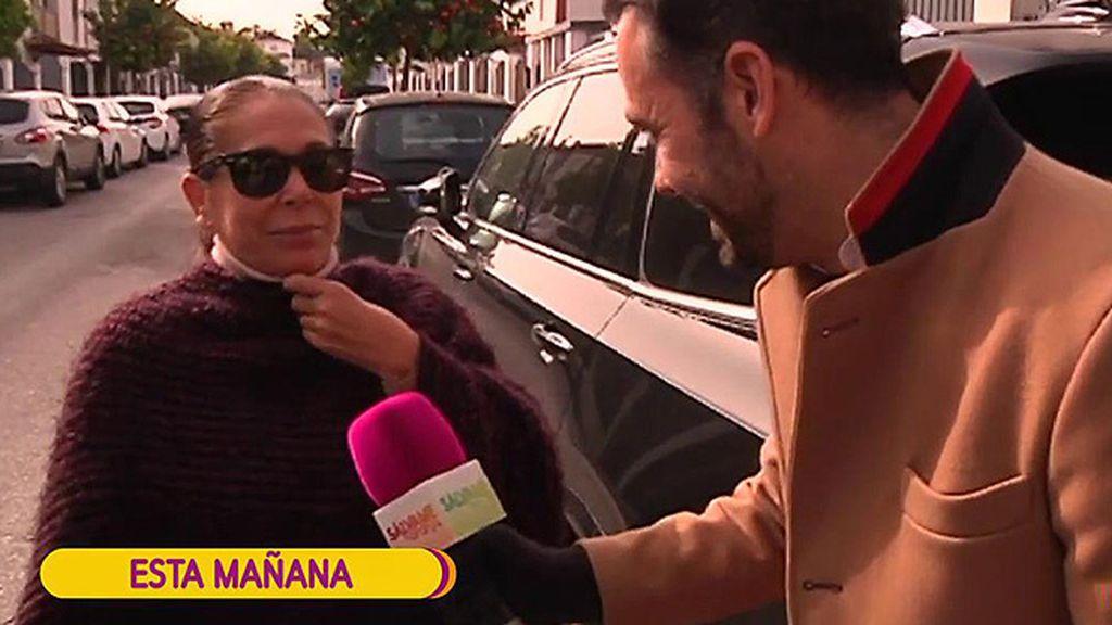 """Isabel Pantoja, pletórica ante la llegada de su nieta: """"Es buenísima, come muy bien y la madre está estupenda"""""""