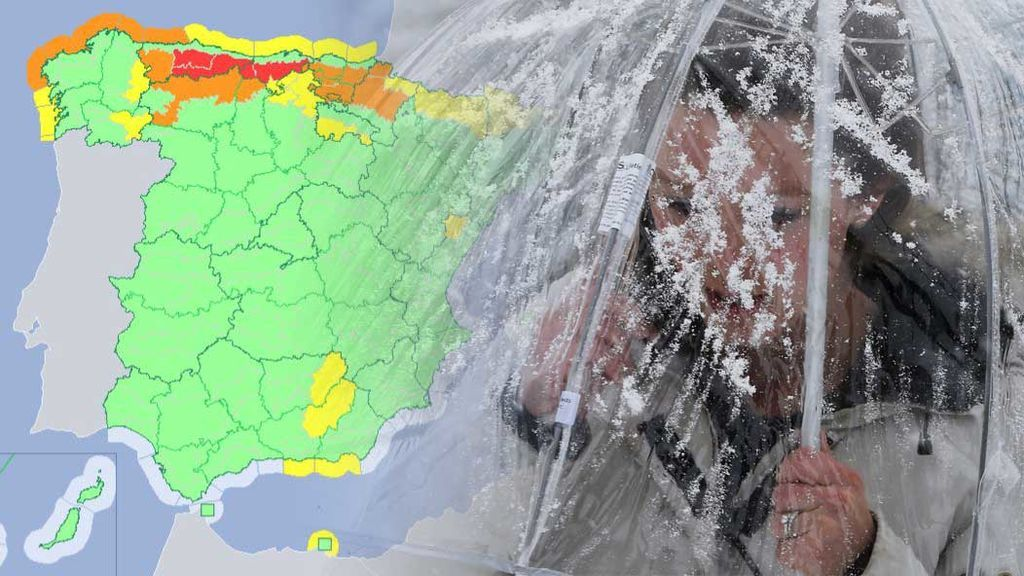 La AEMET emite un aviso especial: ¡alerta roja por nevadas en el norte!