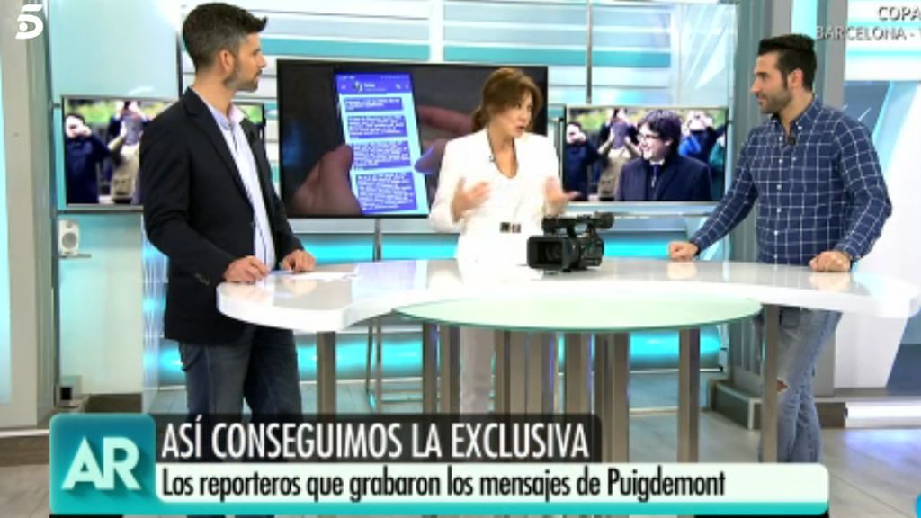 Luis Navarro, Ana Rosa Quintana y Fernando Hernández, en 'El programa de Ana Rosa'.