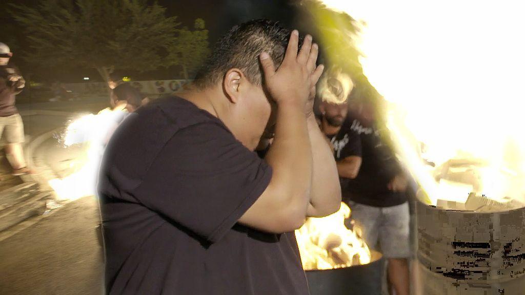 Scorpion, a punto de salir en llamas durante la grabación del videoclip de Nyno Vargas