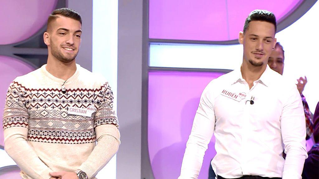 Rubén y Cristian, dos pretendientes a los que les gustan las chicas con carácter