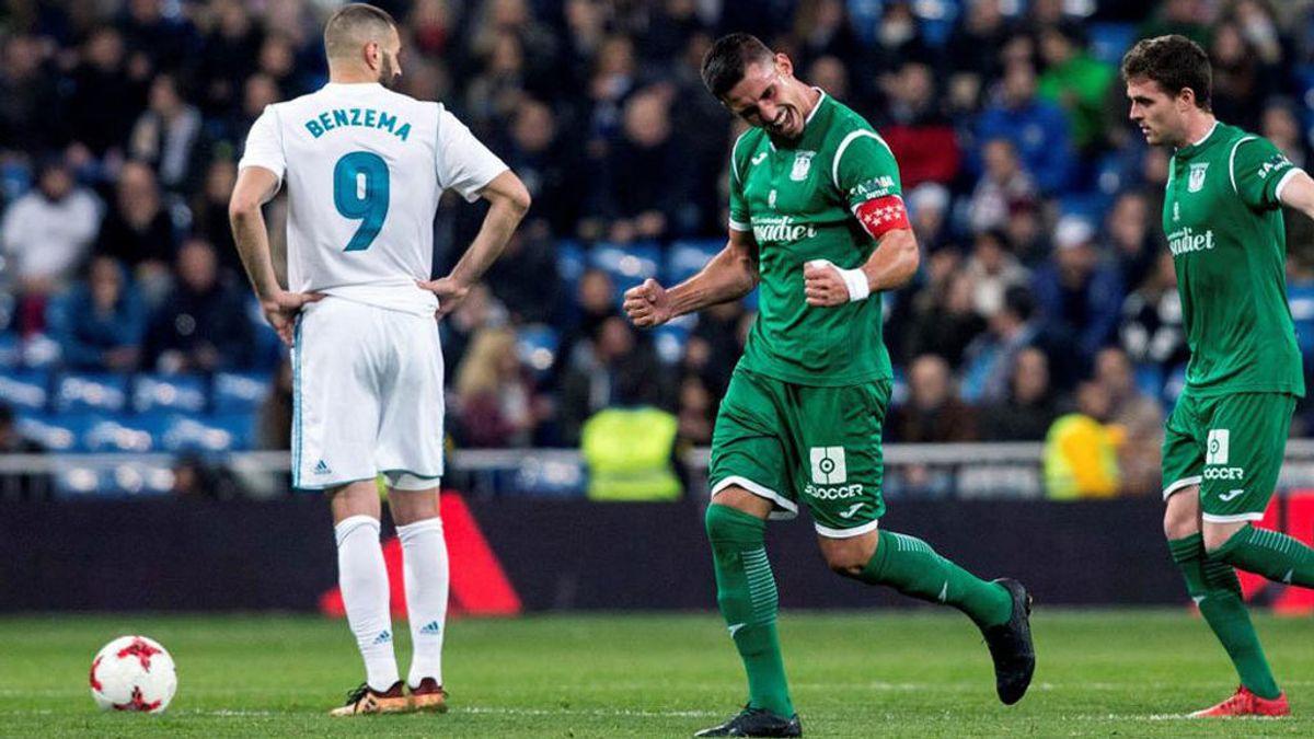 Victoria del Leganés frente al Real Madrid en cuartos de final de la Copa del Rey.
