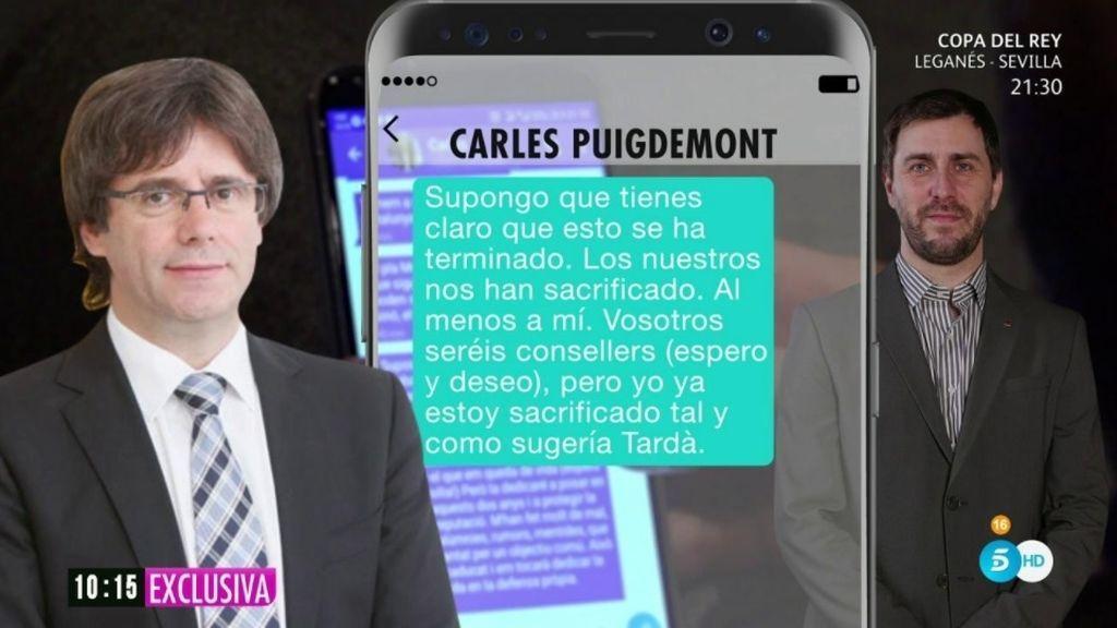 Junts per Catalunya cierra filas con Puigdemont tras los mensajes del Programa de Ana Rosa