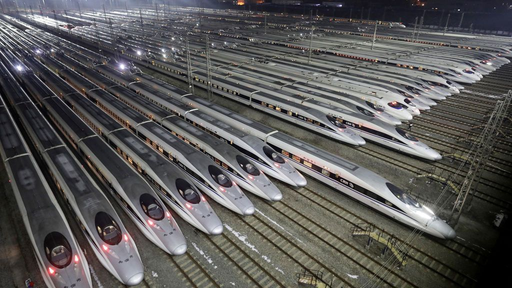Base de mantenimiento de trenes en China