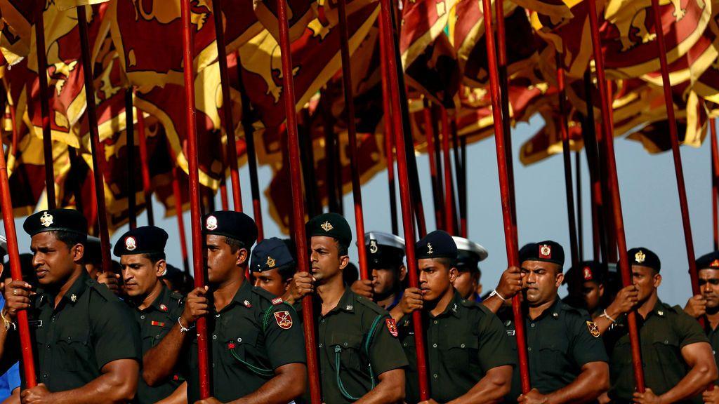 Los soldados del ejército de Sri Lanka