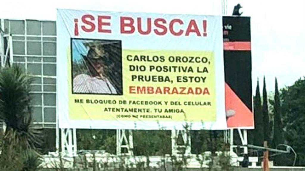 """""""Carlos, estoy embarazada"""": El cartel con el que una mujer busca a su novio ilocalizable"""