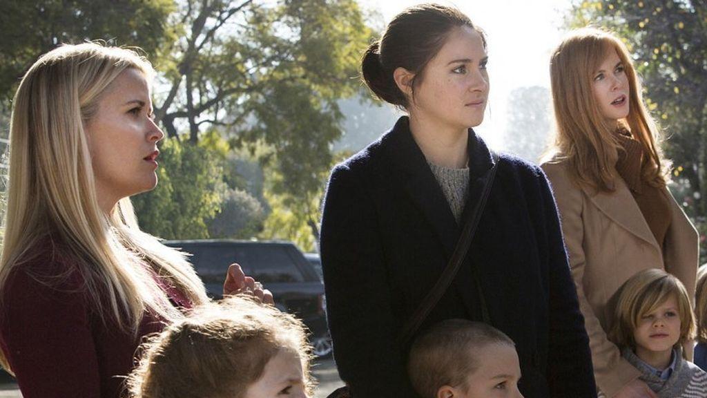 Reese Witherspoon, Shailene Woodley y Nicole Kidman, en la serie de HBO 'Big little lies'.
