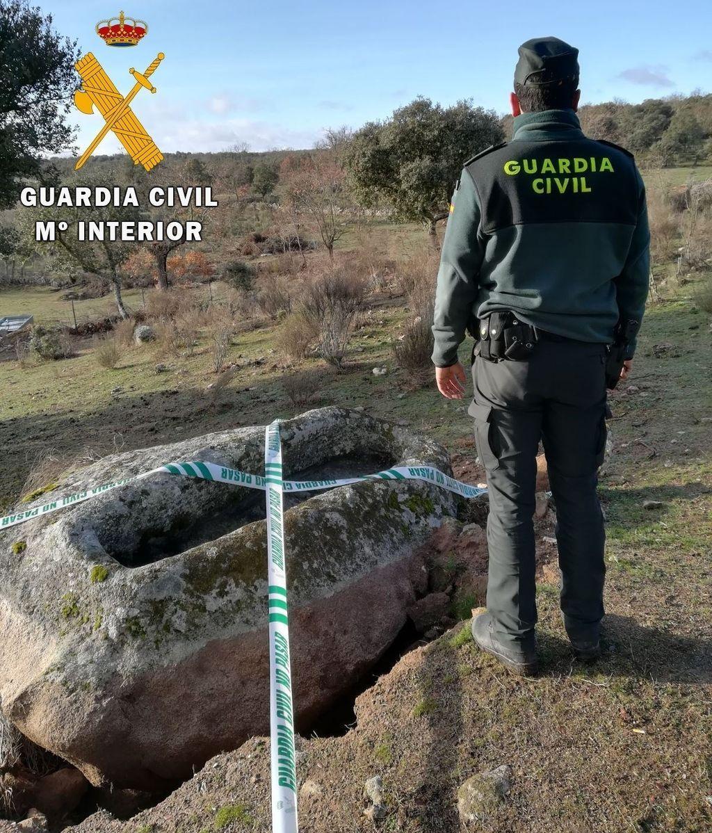 Dos detenidos por tratar de robar un sepulcro medieval en Ciudad Rodrigo (Salamanca)