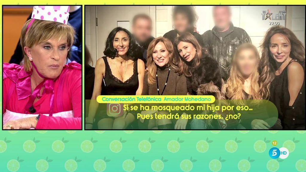"""A. Mohedano, del enfado de Chayo y Rosa: """"Si ve a Rosa en una foto con alguien de 'Sálvame' no va a cantar sevillanas"""""""