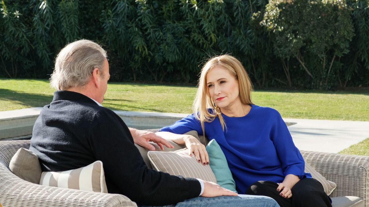 Bertín Osborne recibe a Cristina Cifuentes en 'Mi casa es la tuya'.