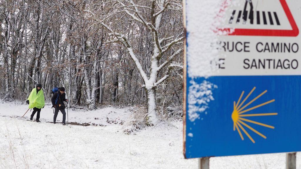 nieve camino de santiago