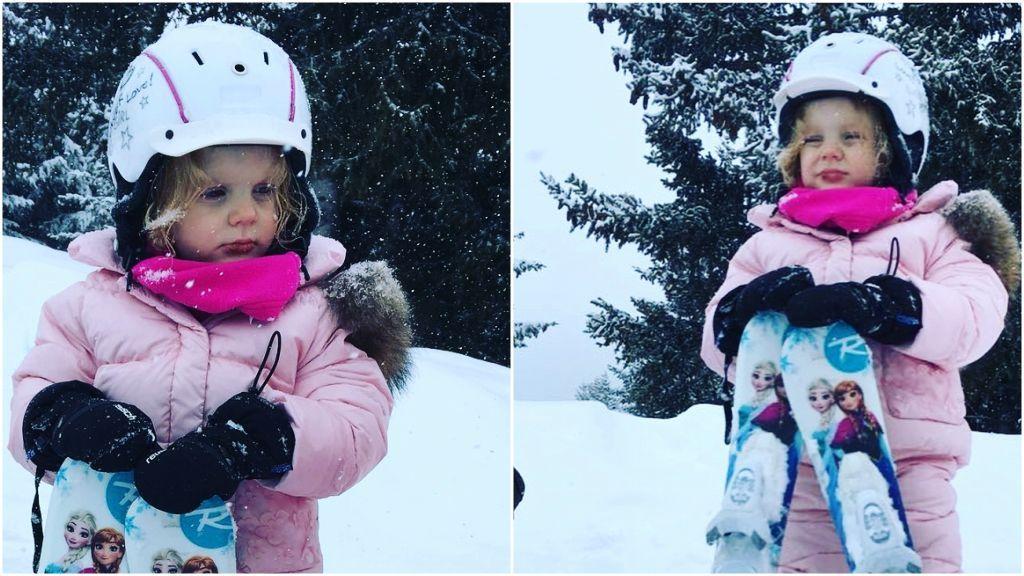 La mini princesa Gabriella de Mónaco comienza sus primeras clases de esquí a sus tres añitos 😍😍😍