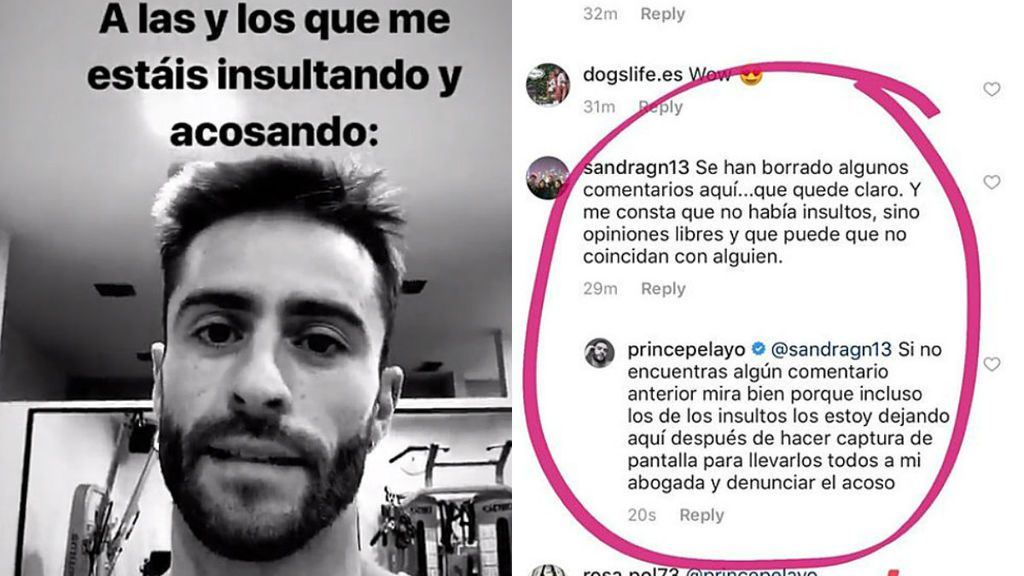 """Pelayo estalla y denuncia el """"acoso"""" sufrido en redes tras la marcha de Natalia de 'Cámbiame'"""