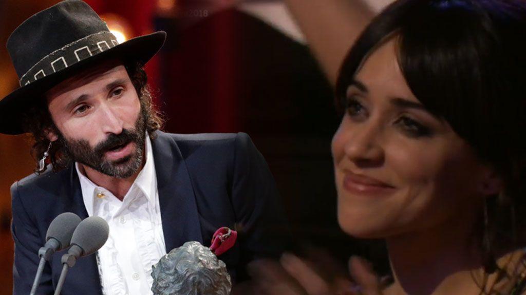 Las lágrimas de emoción de Macarena García al ver a Leiva recoger su Goya