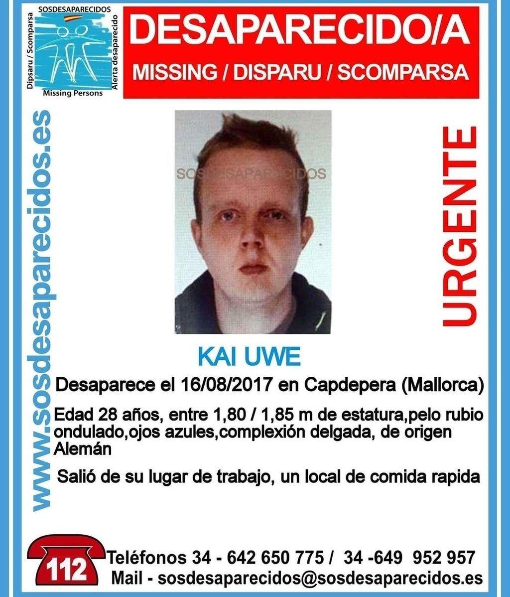 Hallan el cadáver de Kai Palma, el joven alemán desaparecido, en un sótano de Mallorca