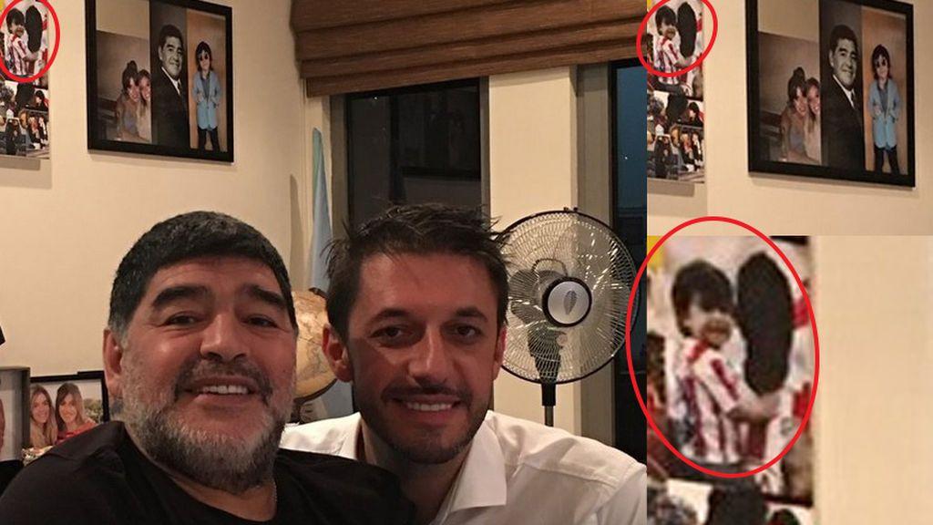 Maradona y la foto que evidencia su odio al Kun Agüero