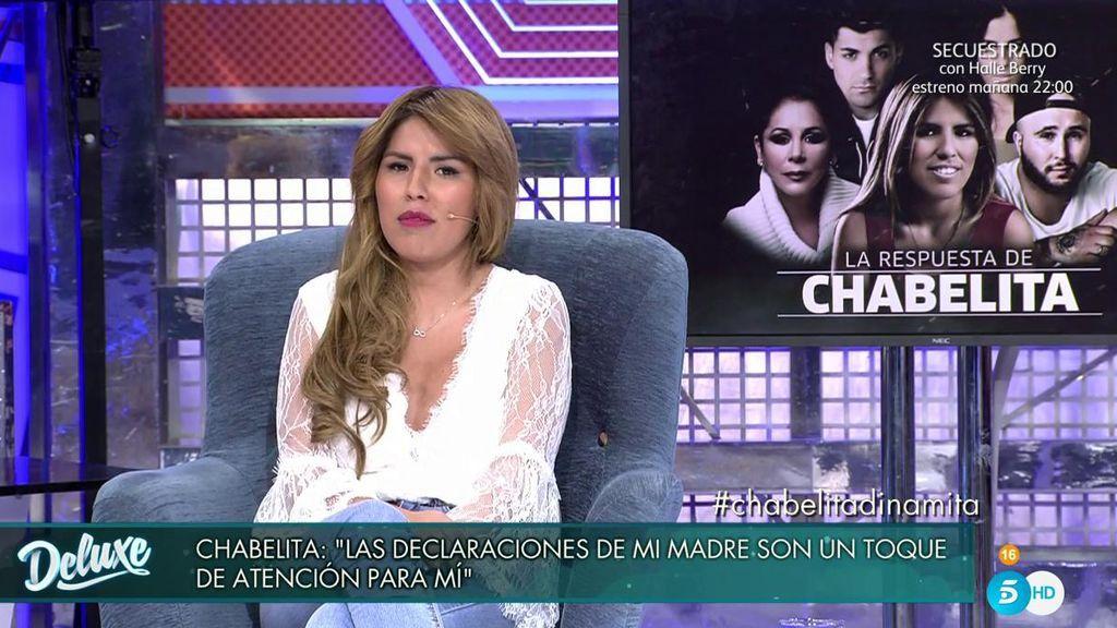 """Chabelita descifra la entrevista de su madre: """"Veo que me está tendiendo la mano, es un toque de atención"""""""