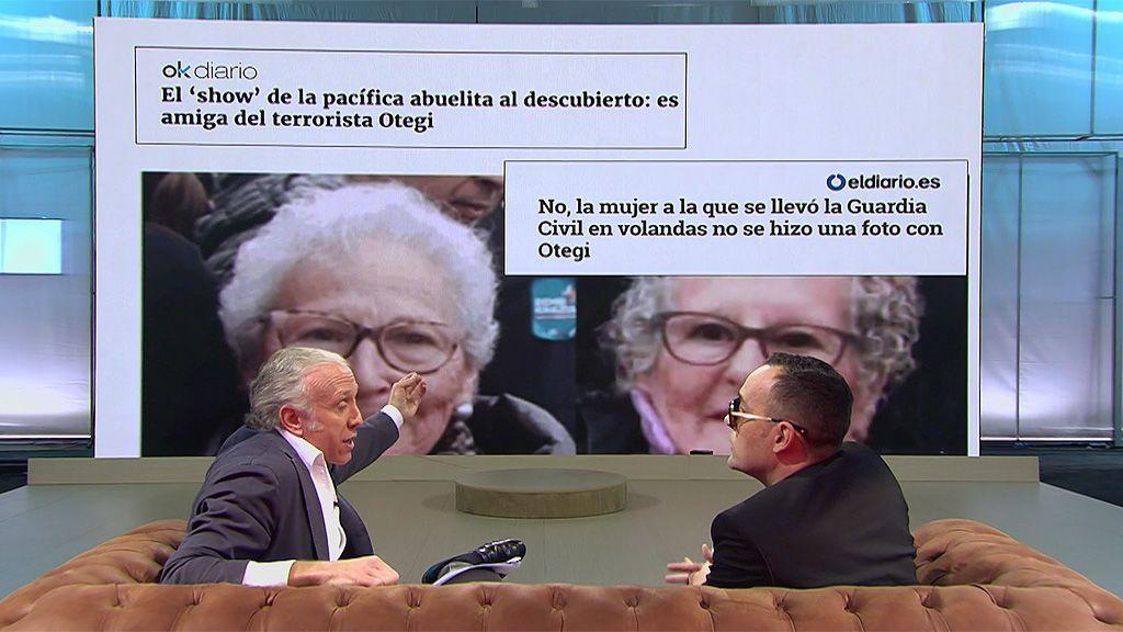 """Eduardo Inda no reconoce el error de 'Okdiario' sobre la """"pacífica abuelita"""" de Cataluña"""