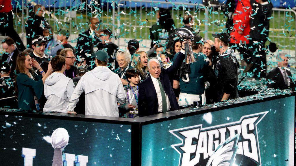 Victoria sobre los New England Patriots en el Super Bowl