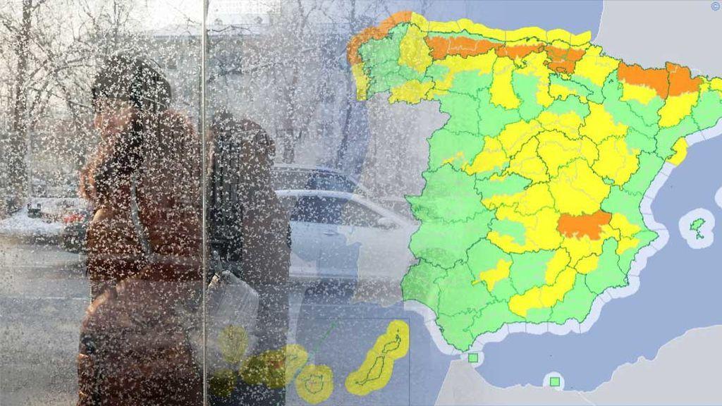 La nieve podría llegar a la costa  en el norte: 35 provincias, en aviso por frío, viento, olas y nevadas