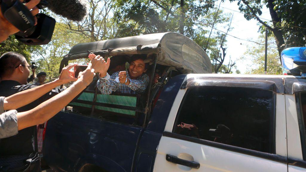 El periodista de Reuters detenido, Kyaw Soe Oo