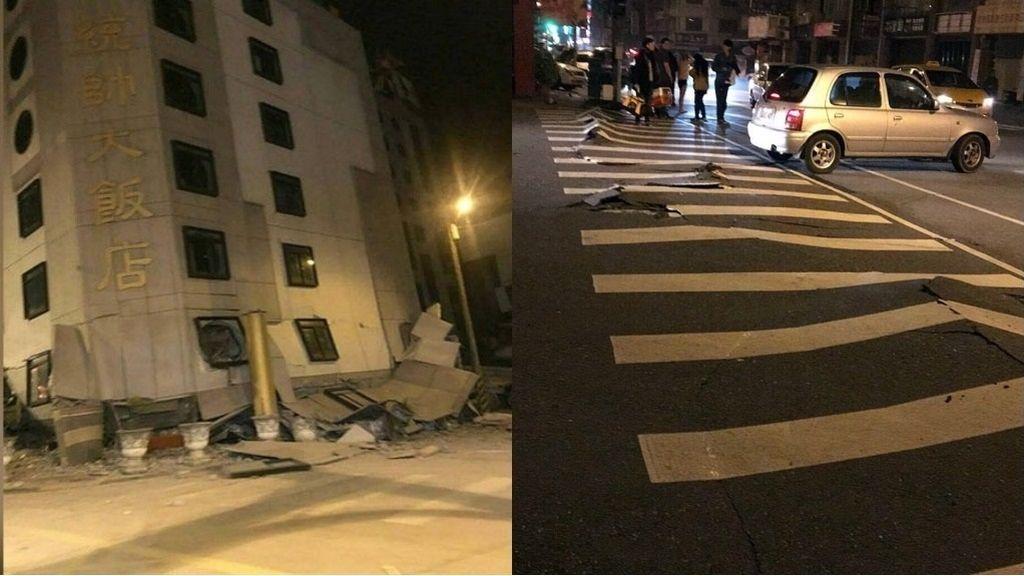 Un terremoto de 6,4 provoca el desplome de varios edificios en Taiwan