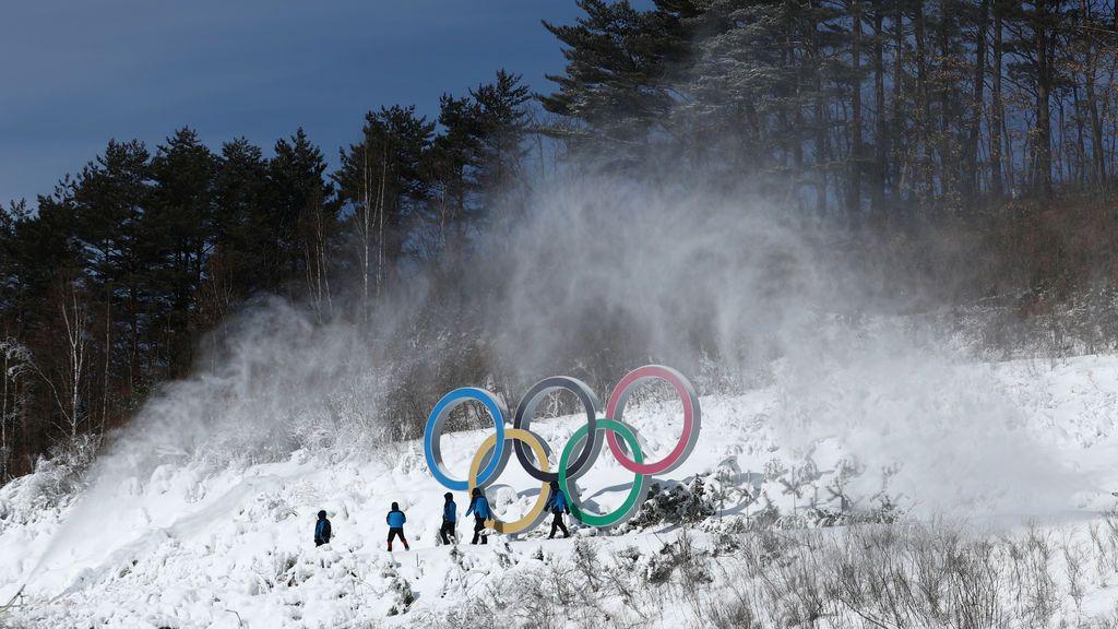 Entrenamiento para las olimpiadas de invierno en Pyeongchang, Corea del Sur