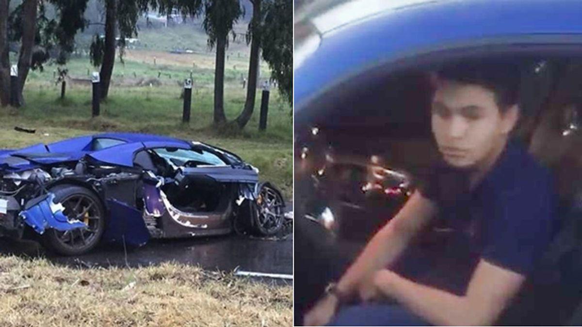 Cumple 18 años, le regalan un 'super deportivo' y lo estrella horas después en una carrera de coches de lujo
