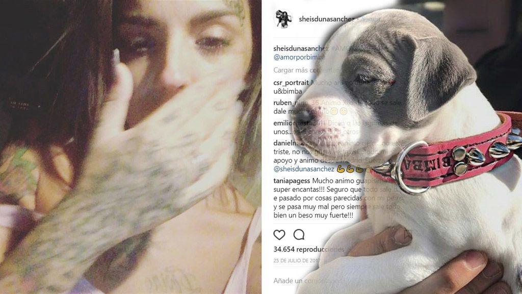 Duna explica entre lágrimas los peores momentos de la enfermedad de su perrita Bimba