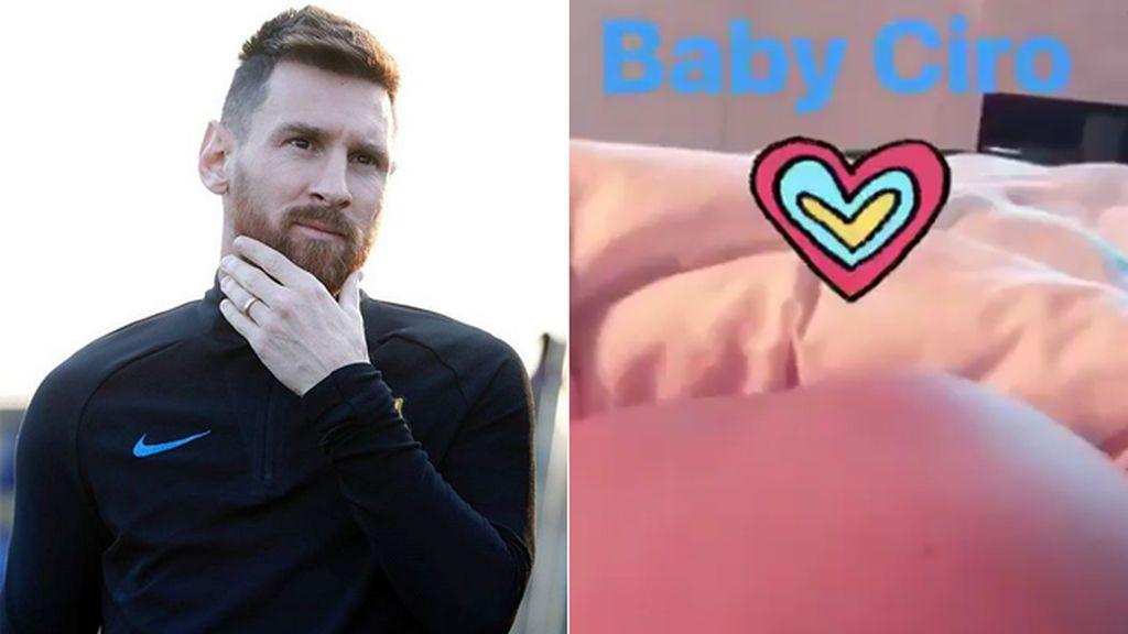 Messi desvela el nombre de su tercer hijo y muestra sus primeras patadas… en la barriga de Antonella