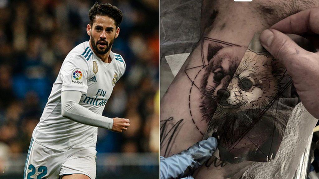 ¡Amor perruno! Isco se tatúa la cara de su perro 'Bubu' en el brazo