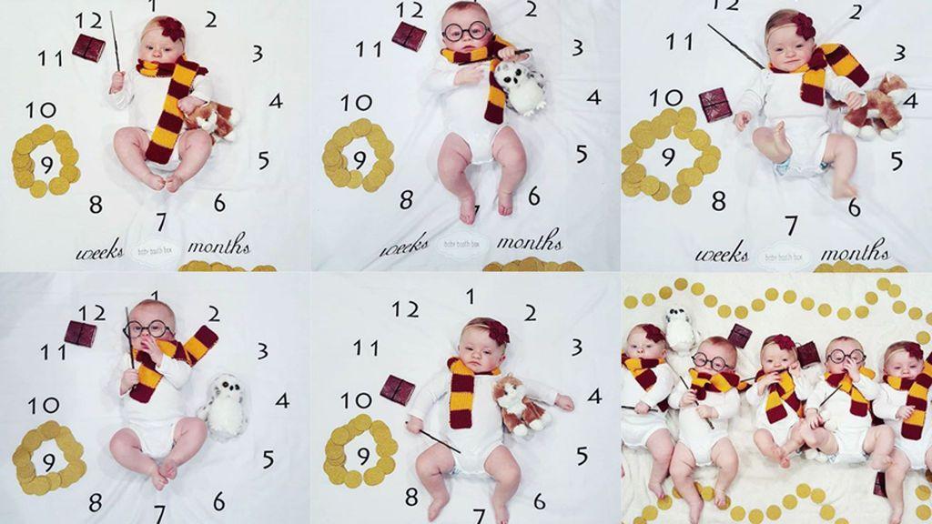 La mágica forma en la que unos padres celebran los nueve meses de vida de sus quintillizos