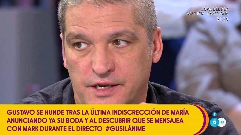 """Gustavo González: """"No existe la posibilidad de una boda con María"""""""