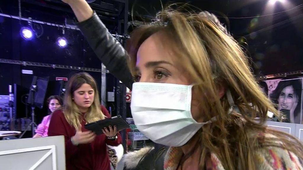 ¡Aíslan a María Patiño para que no le contagie su gripe a Jorge Javier!