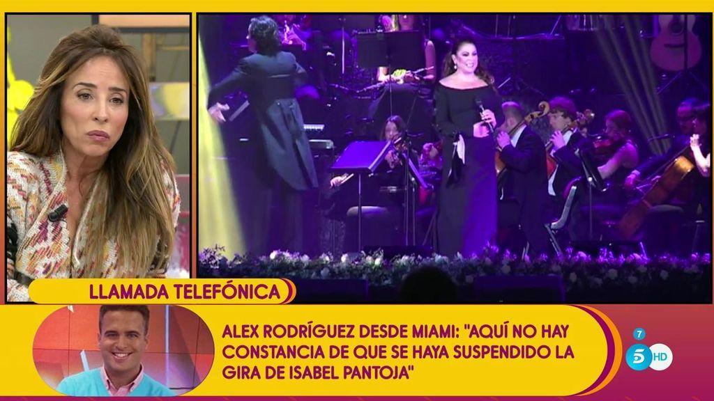 """Alex Rodríguez desde Miami: """"Aquí no hay constancia de que se haya suspendido la gira de Isabel Pantoja"""""""