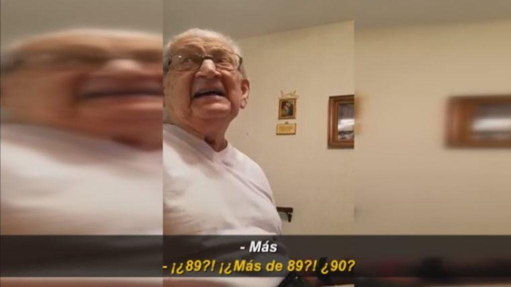 Un abuelo alucina al descubrir la edad que tiene