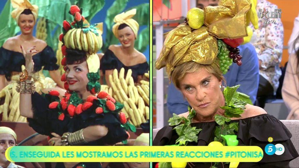 ¡Chelo García Cortés homenajea a Carmen Miranda!