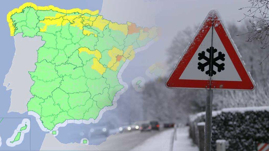 36 provincias, en aviso por frío y viento: la DGT mantiene cortadas 171 carreteras